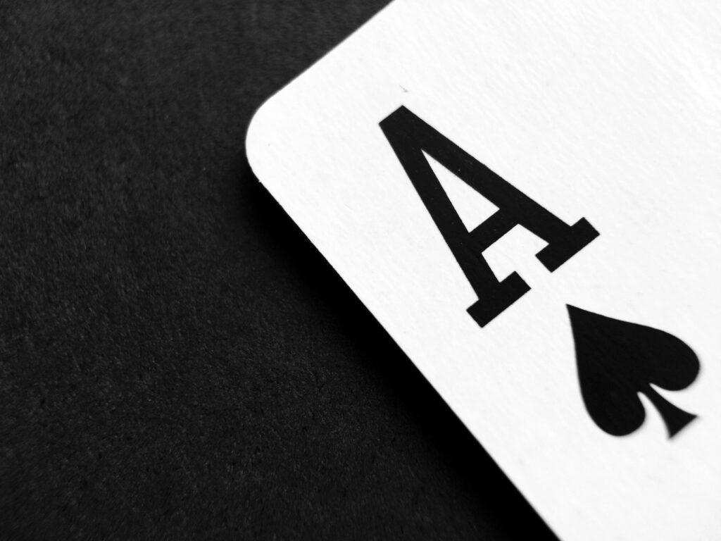 Playing card.