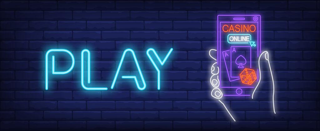 Online casino neon sign