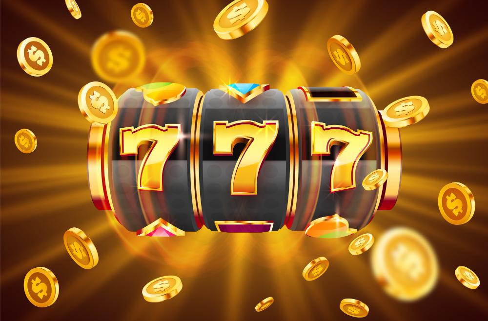 Golden slot machine.